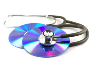 CDs and stethoscope